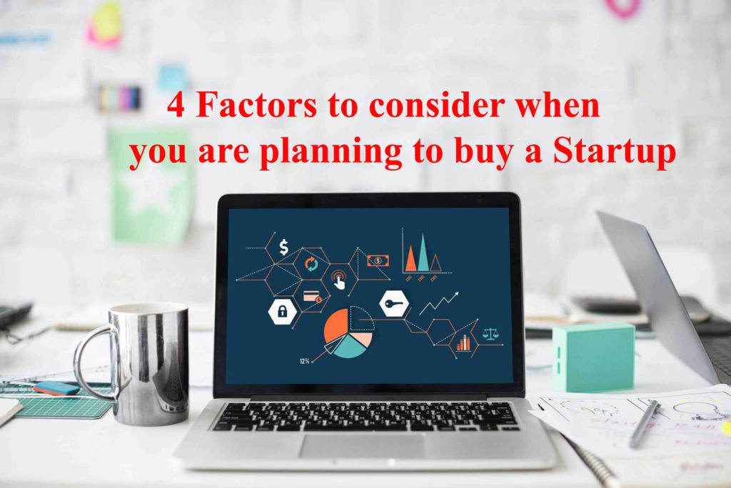 Factors to consider before buying a startup.