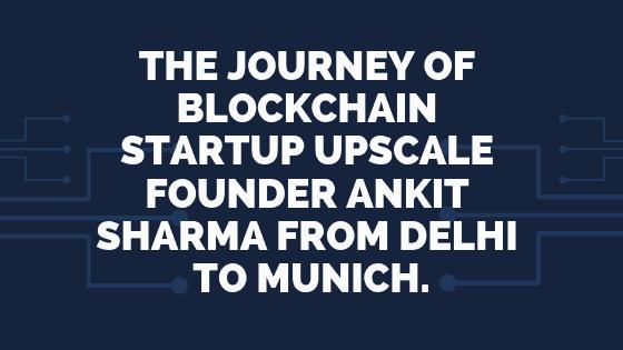 Upscale blockchain startup